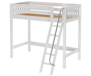 Maxtrix KNOCKOUT High Loft Bed Twin Size White | Maxtrix Furniture | MX-KNOCKOUT-WX
