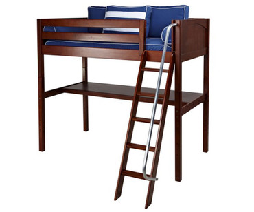 Maxtrix KNOCKOUT High Loft Bed with Desk Twin Size Chestnut | Maxtrix Furniture | MX-KNOCKOUT1-CX