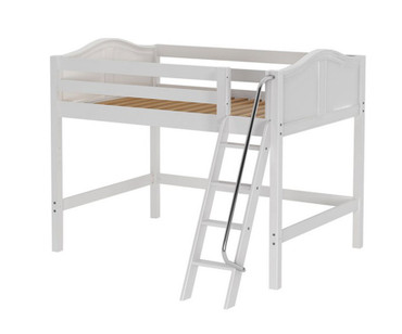 Maxtrix KONG Mid Loft Bed Full Size White | Maxtrix Furniture | MX-KONG-WX