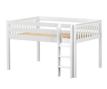 Maxtrix LARGE Low Loft Bed Full Size White | Maxtrix Furniture | MX-LARGE-WX