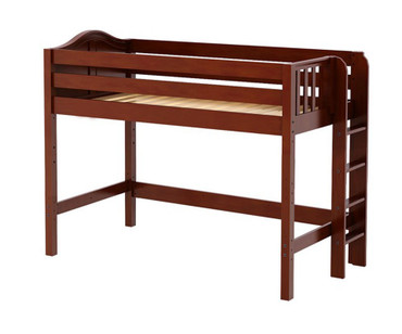 Maxtrix MACK Mid Loft Bed Twin Size Chestnut | Maxtrix Furniture | MX-MACK-CX