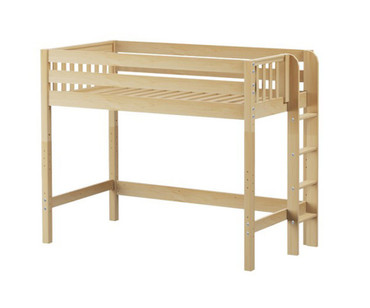 Maxtrix MACK Mid Loft Bed Twin Size Natural | Maxtrix Furniture | MX-MACK-NX