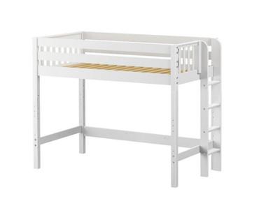 Maxtrix MACK Mid Loft Bed Twin Size White | Maxtrix Furniture | MX-MACK-WX
