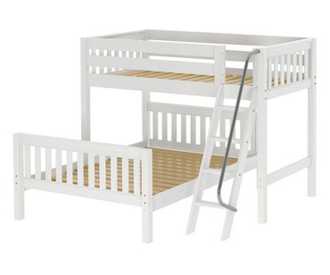Maxtrix MAX Bunk Bed Twin over Full Size White | Maxtrix Furniture | MX-MAX-WX