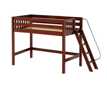 Maxtrix PACK Mid Loft Bed Twin Size Chestnut | Maxtrix Furniture | MX-PACK-CX