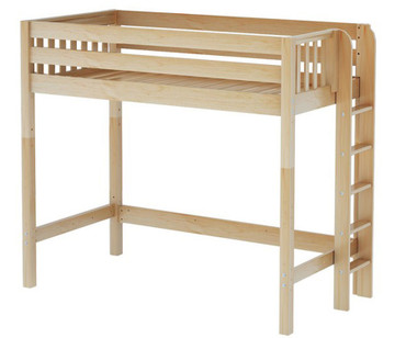 Maxtrix SLAM High Loft Bed Twin Size Natural | Maxtrix Furniture | MX-SLAM-NX