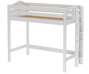 Maxtrix SLAM High Loft Bed Twin Size White | Maxtrix Furniture | MX-SLAM-WX
