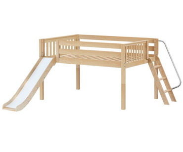 Maxtrix SLAP Low Loft Bed Full Size Natural | Maxtrix Furniture | MX-SLAP-NX