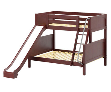 Maxtrix SLICK Bunk Bed w/ Slide Twin over Full Size Chestnut | Maxtrix Furniture | MX-SLICK-CX