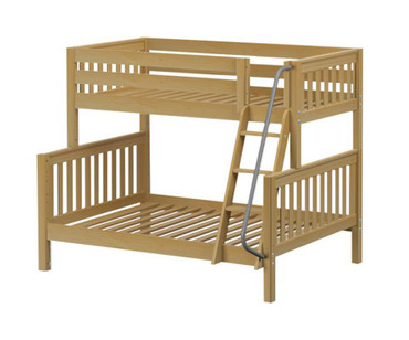 Maxtrix SLOPE Bunk Bed Twin over Full Size Natural   Maxtrix Furniture   MX-SLOPE-NX