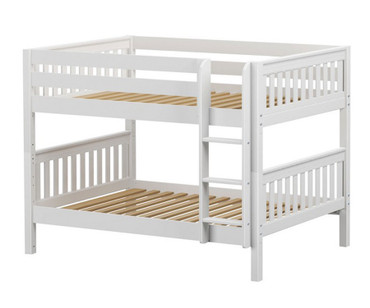 Maxtrix SLURP Low Bunk Bed Full Size White | Maxtrix Furniture | MX-SLURP-WX