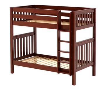 Maxtrix TALL High Bunk Bed Twin Size Chestnut | Maxtrix Furniture | MX-TALL-CX