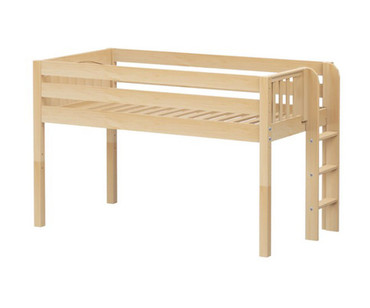 Maxtrix TIGHT Low Loft Bed Twin Size Natural | Maxtrix Furniture | MX-TIGHT-NX