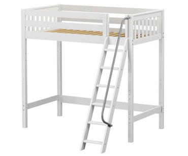 Maxtrix KNOCKOUT Ultra-High Loft Bed Twin Size White | Maxtrix Furniture | MX-ULTRAKNOCKOUT-WX