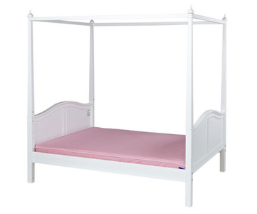 Maxtrix VICTORIA Princess Poster Bed Full Size White | Maxtrix Furniture | MX-VICTORIA-WX
