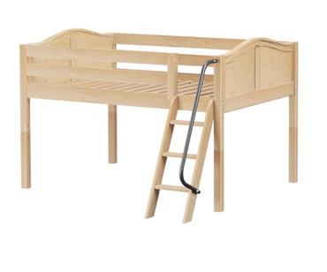 Maxtrix XL Low Loft Bed Full Size Natural   Maxtrix Furniture   MX-XL-NX