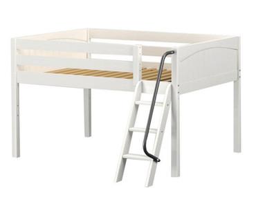 Maxtrix XL Low Loft Bed Full Size White   Maxtrix Furniture   MX-XL-WX