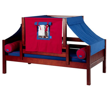 Maxtrix YO Day Bed with Top Tent Twin Size Chestnut | Maxtrix Furniture | MX-YO21-C