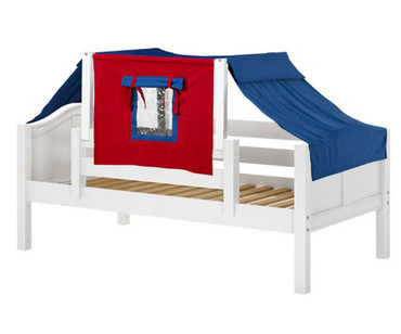 Maxtrix YO Day Bed with Top Tent Twin Size White | Maxtrix Furniture | MX-YO21-W