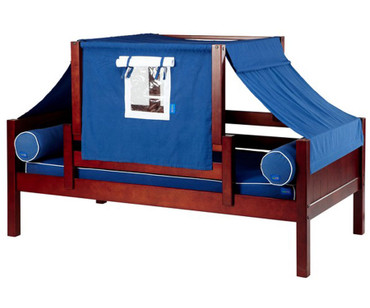 Maxtrix YO Day Bed with Top Tent Twin Size Chestnut 1 | Maxtrix Furniture | MX-YO22-C