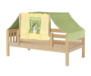 Maxtrix YO Day Bed with Top Tent Twin Size Natural 3 | Maxtrix Furniture | MX-YO24-N