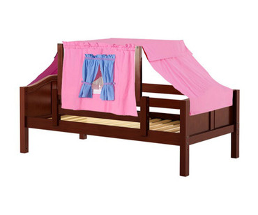 Maxtrix YO Day Bed with Top Tent Twin Size Chestnut 5 | Maxtrix Furniture | MX-YO28-C