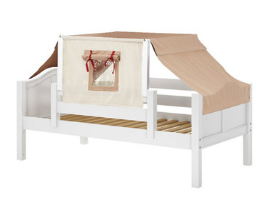 Maxtrix YO Day Bed with Top Tent Twin Size White 7 | Maxtrix Furniture | MX-YO30-W