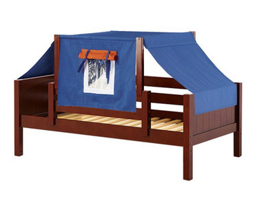 Maxtrix YO Day Bed with Top Tent Twin Size Chestnut 8 | Maxtrix Furniture | MX-YO42-C