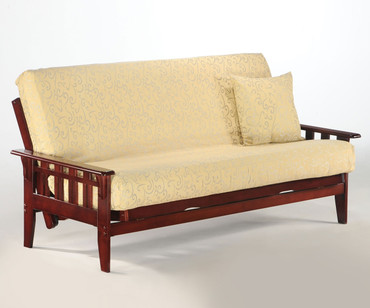 Kingston Futon Sofa Rosewood | Night and Day Furniture | ND-Kingston-RW