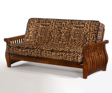 Nightfall Futon Sofa Black Walnut | Night and Day Furniture | ND-Nightfall-BW