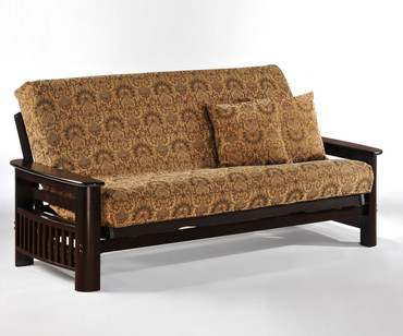 Portofino Futon Sofa Chocolate | Night and Day Furniture | ND-Portofino-CHO