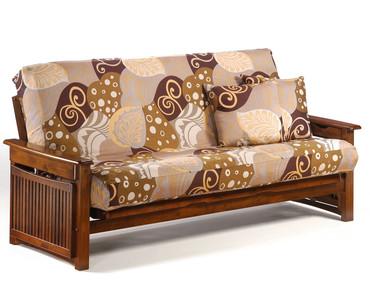 Raindrop Futon Sofa Black Walnut | Night and Day Furniture | ND-Raindrop-BW