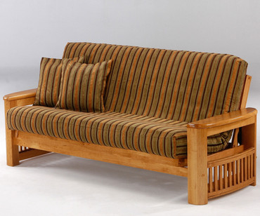 Shadow Futon Sofa Medium Oak | Night and Day Furniture | ND-Shadow-MO