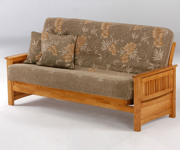 Sunrise Futon Sofa Medium Oak | Night and Day Furniture | ND-Sunrise-MO