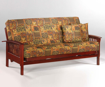 Winchester Futon Sofa Rosewood | Night and Day Furniture | ND-Winchester-RW