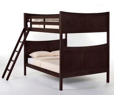 School House Taylor Full over Full Bunk Bed Chocolate | NE Kids | NE-5035BUNK
