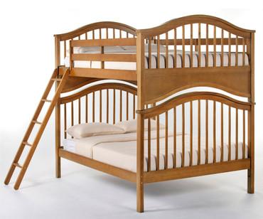 School House Jordan Full over Full Bunk Bed Pecan | NE Kids | NE-6015BUNK