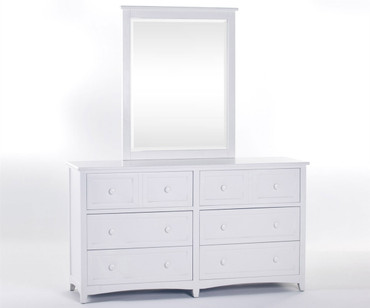 School House 6 Drawer Dresser White | NE Kids Furniture | NE-7500