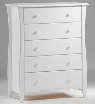 Timber Creek 5 Drawer Chest White | Night & Day Furniture | NE-CLOVE-5D-WH