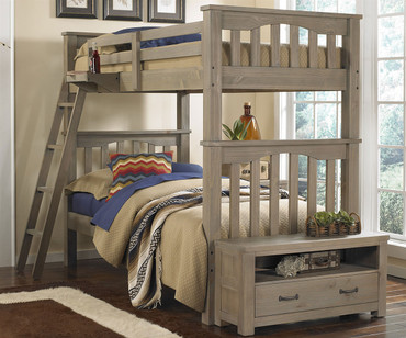 Everglades Harper Twin over Twin Size Bunk Bed Driftwood | NE Kids Furniture | NE10051