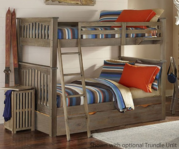 Everglades Harper Full over Full Size Bunk Bed Driftwood | NE Kids Furniture | NE10055X