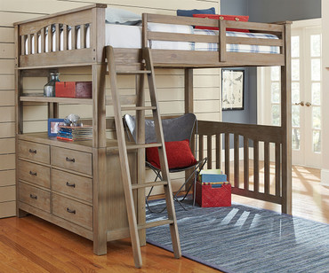 Everglades Loft Bed Full Size Driftwood | NE Kids Furniture | NE10080