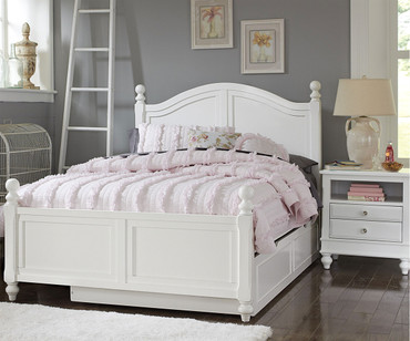 Lakehouse Payton Full Bed with Trundle White | NE Kids | NE1015-1570