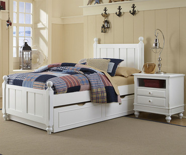 Lakehouse Kennedy Twin Bed with Trundle White   NE Kids   NE1020-1570