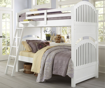 Lakehouse Adrian Bunk Bed Twin Over Twin White | NE Kids | NE1031