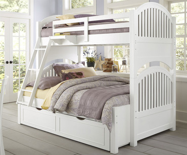 Lakehouse Adrian Bunk Bed Twin Over Full White | NE Kids | NE1035