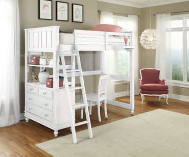 Lakehouse Loft Bed Twin White | NE Kids | NE1040