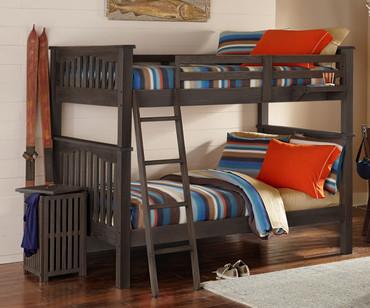 Everglades Harper Full over Full Size Bunk Bed Espresso | NE Kids Furniture | NE11055X
