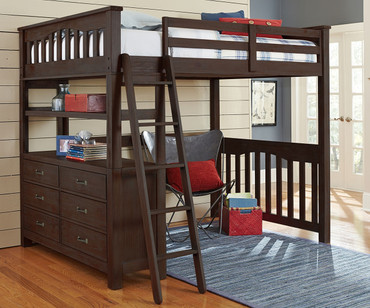 Everglades Loft Bed Full Size Espresso | NE Kids Furniture | NE11080