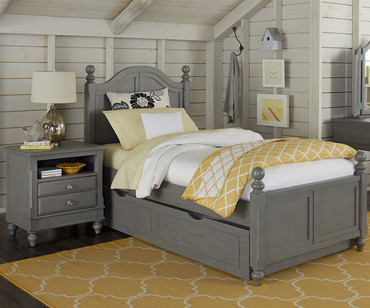 Lakehouse Payton Twin Bed with Trundle Stone | NE Kids | NE2010-2570